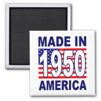 MADE IN 1950 SQUARE MAGNET