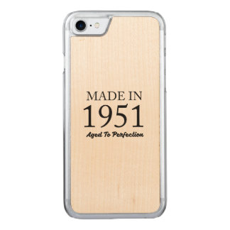 Made In 1951 Carved iPhone 7 Case