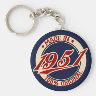 Made In 1951 Key Ring