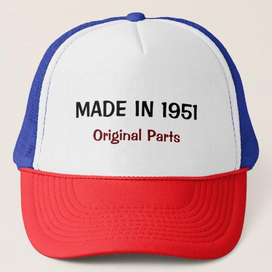 Made in 1951, Original Parts, custom text Cap