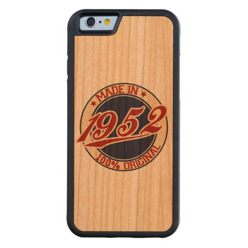 Made In 1952 Carved® Cherry iPhone 6 Bumper Case