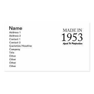 Made In 1953 Pack Of Standard Business Cards