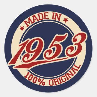 Made In 1953 Round Sticker