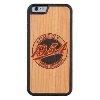 Made In 1954 Carved® Cherry iPhone 6 Bumper