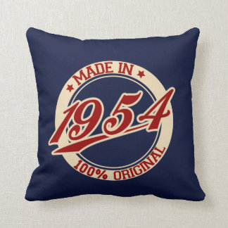 Made In 1954 Throw Cushions