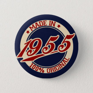Made In 1955 6 Cm Round Badge