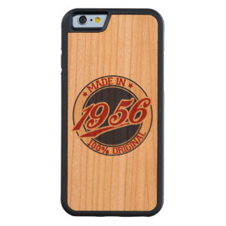 Made In 1956 Birthday Year Carved Cherry iPhone 6 Bumper Case