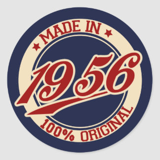 Made In 1956 Classic Round Sticker