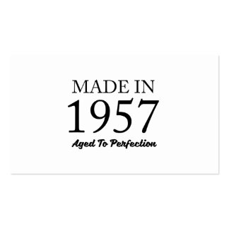 Made In 1957 Pack Of Standard Business Cards