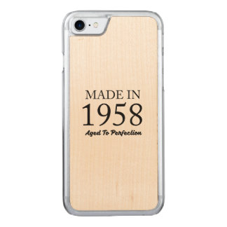 Made In 1958 Carved iPhone 8/7 Case
