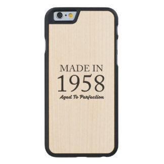 Made In 1958 Carved® Maple iPhone 6 Case