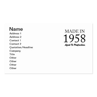 Made In 1958 Pack Of Standard Business Cards