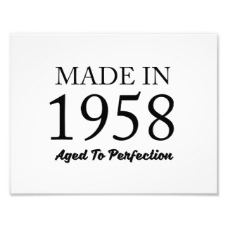 Made In 1958 Photographic Print