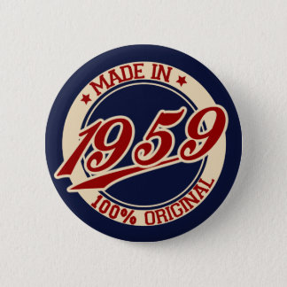 Made In 1959 6 Cm Round Badge