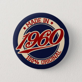 Made In 1960 6 Cm Round Badge