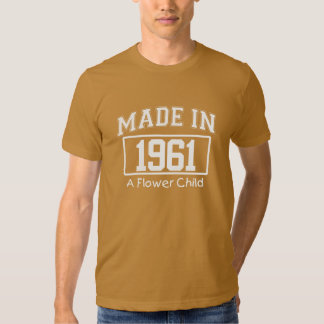 MADE in 1961 A Flower Child Birthday Tee