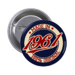 Made In 1961 Button