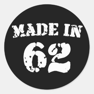Made In 1962 Round Sticker