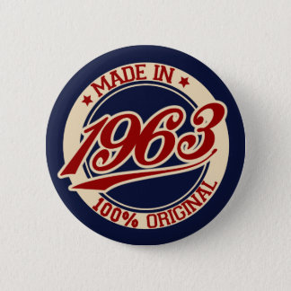 Made In 1963 6 Cm Round Badge