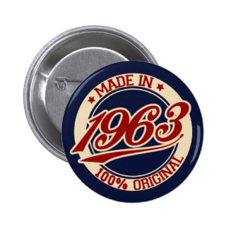 Made In 1963 Pin