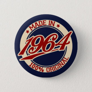 Made In 1964 6 Cm Round Badge