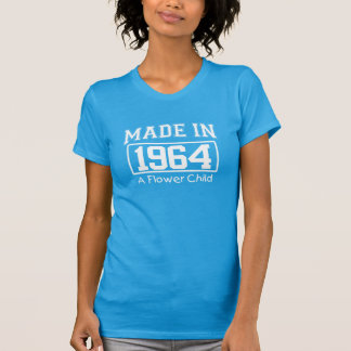 MADE in 1964 A Flower Child Birthday Tee