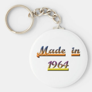 MADE IN 1964 BASIC ROUND BUTTON KEY RING