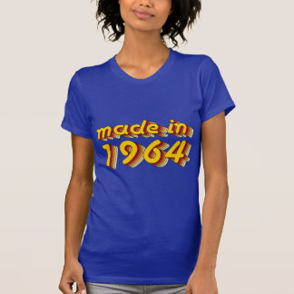 Made in 1964 Yellow Red T Shirt