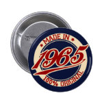 Made In 1965 6 Cm Round Badge
