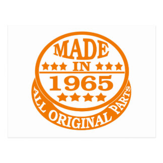 Made in 1965 all original parts postcards