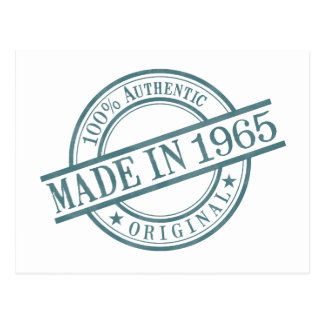 Made in 1965 postcard