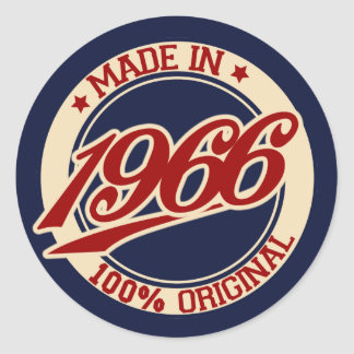 Made In 1966 Round Sticker
