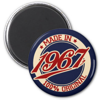 Made In 1967 6 Cm Round Magnet