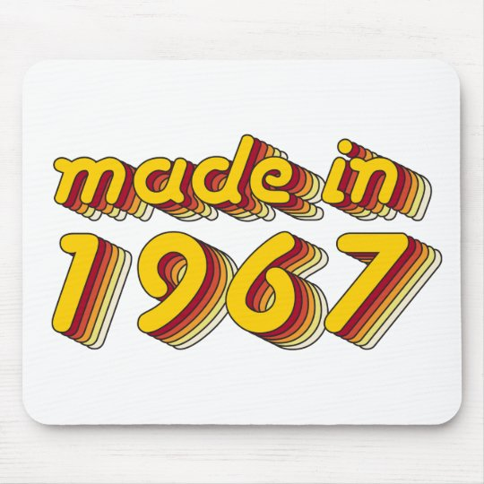 Made in 1967 (Yellow&Red) Mouse Mat