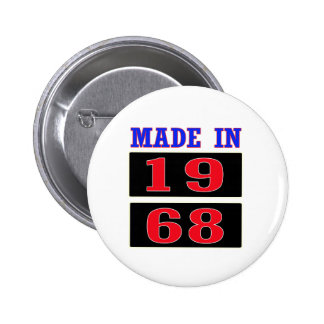 Made in 1968 6 cm round badge