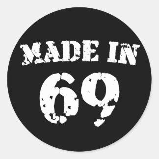 Made In 1969 Round Sticker