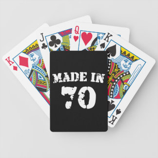 Made In 1970 Bicycle Playing Cards