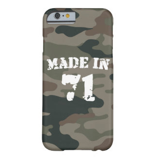 Made In 1971 Army Style Birthday Year iPhone 6/6s Barely There iPhone 6 Case