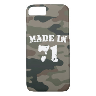 Made In 1971 Army Style Birthday Year iPhone 8/7 Case