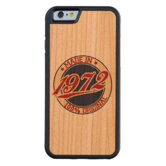 Made In 1972 Carved® Cherry iPhone 6 Bumper