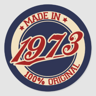 Made In 1973 Classic Round Sticker