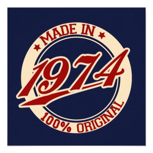 Made In 1974 Custom Invite