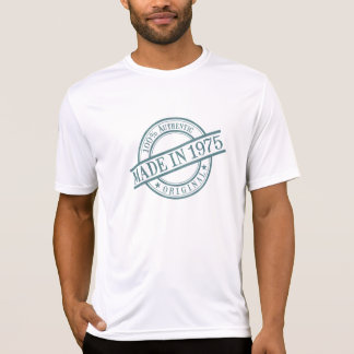 Made in 1975 Circular Rubber Stamp Style Logo T-Shirt