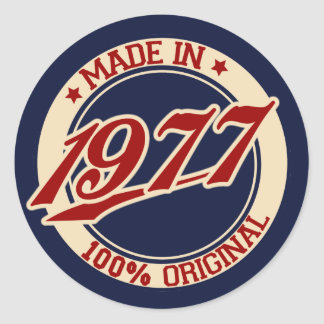 Made In 1977 Classic Round Sticker