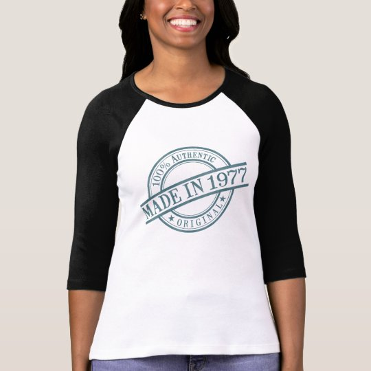 Made in 1977 Stamp Style Logo Women's Long