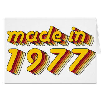 Made in 1977 (Yellow&Red) Card