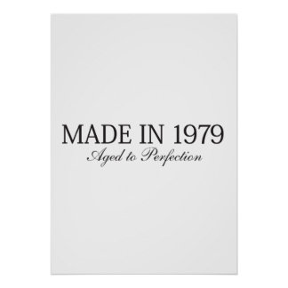 Made in 1979 poster