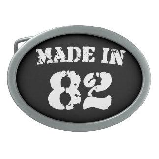 Made In 1982 Oval Belt Buckle