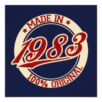 Made In 1983 13 Cm X 13 Cm Square Invitation Card