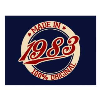 Made In 1983 Postcard